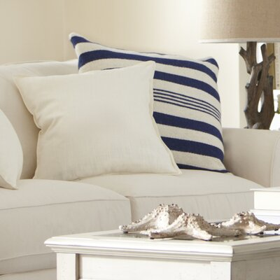 Edie Wool Pillow Cover Color: Navy
