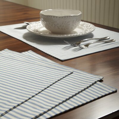 Tegan Placemats Color: Navy
