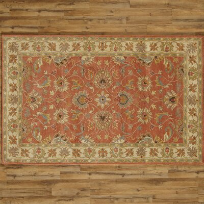 Arden Burnt Orange Tufted Wool Area Rug Rug Size: Square 4