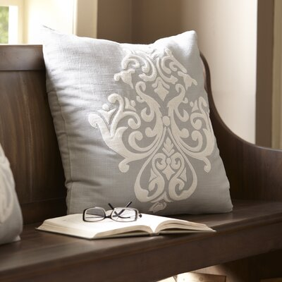 Leah Pillow Cover Color: Pewter & White