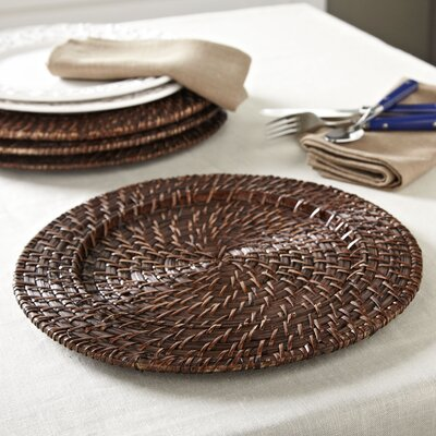 Round Rattan Chargers Color: Natural