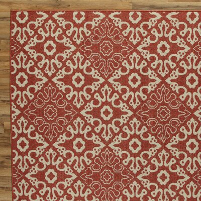 Lydia Brick Indoor/Outdoor Rug Rug Size: 53 x 76