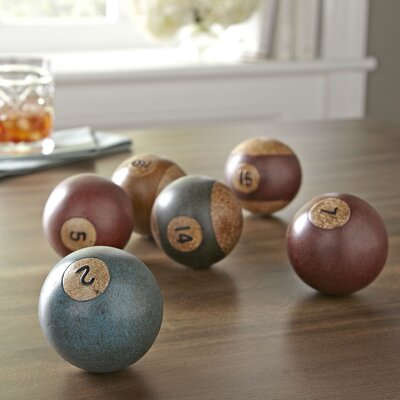 Antiqued Billiard Balls