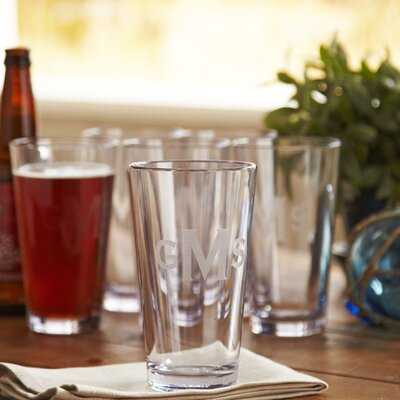 Monogrammed Tritan Outdoor Pint Glasses