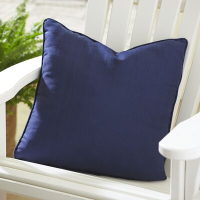 Mara Outdoor Throw Pillow Color: Navy