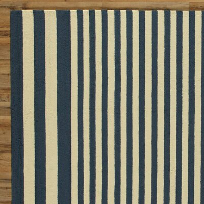 Maura Navy Indoor/Outdoor Rug Rug Size: Runner 26 x 8