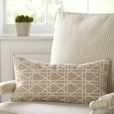 Emma Jute Lumbar Pillow Cover Color: Taupe