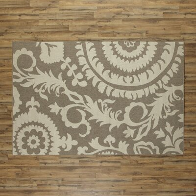 Hattie Natural & Parchment Indoor/Outdoor Rug Rug Size: Rectangle 6 x 9
