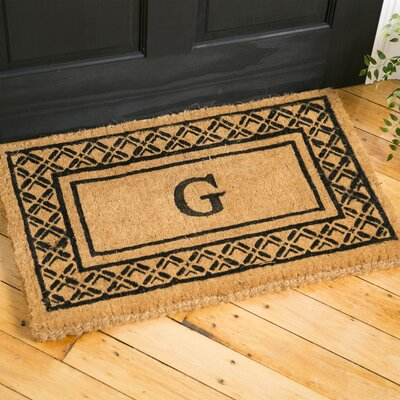 Belamy Monogrammed Welcome Doormat