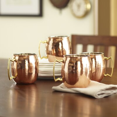 Birch Lane Hammered Copper Mule Mugs
