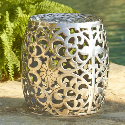 Birch Lane Fretwork Aluminum Garden Stool