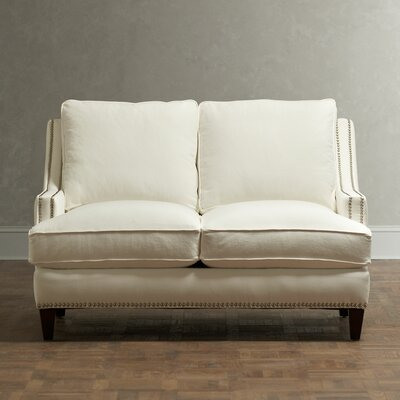 Larson Nailhead Trim Loveseat Upholstery: Spinnsol Natural