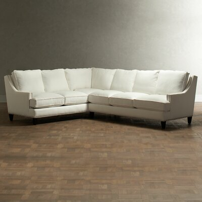 Larson Sectional Upholstery: Spinsol Optic White, Orientation: Left Facing