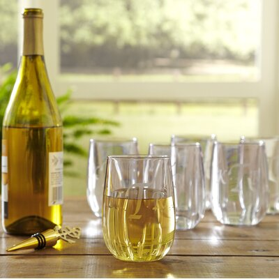 Monogrammed Tritan Stemless Wine Glasses