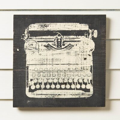 Typewriter Reclaimed Wood Wall Art
