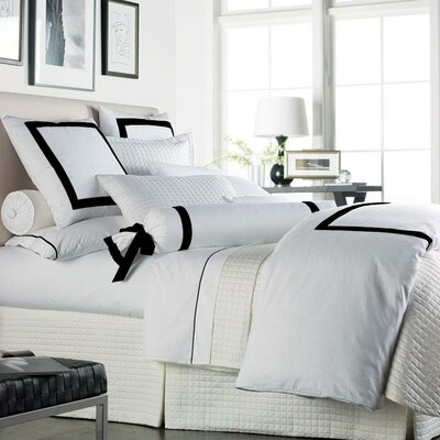 Celina Duvet Size: King, Color: White & Lemon