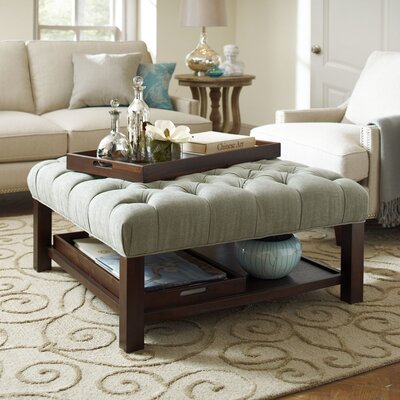 Everly Ottoman Upholstery: Sage