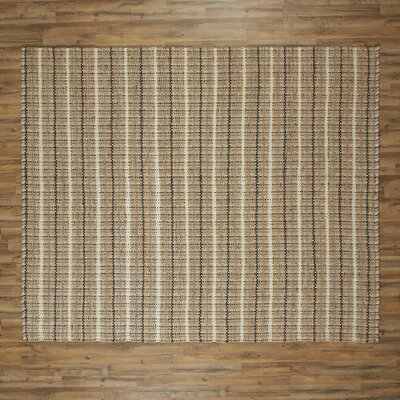 Caroline Hand-Woven Navy/Putty Area Rug Rug Size: Rectangle 26 x 4