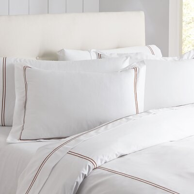 Alexa Monogrammed Duvet Color: Terra & White, Size: King