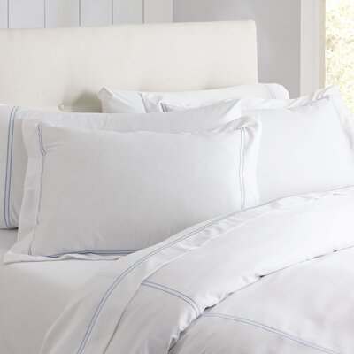 Alexa Sham Color: Blue & White, Size: King