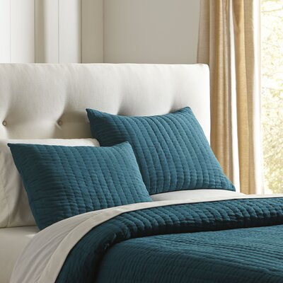 Julia Quilted Sham Size: Standard, Color: Teal