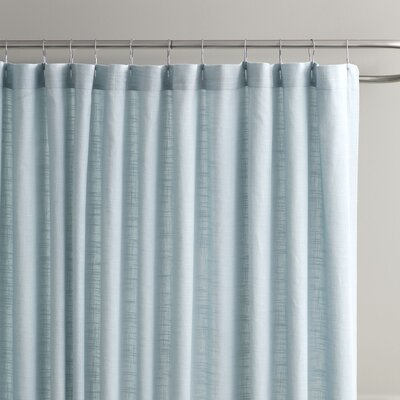 Amanda Shower Curtain Color: Aqua/Grey