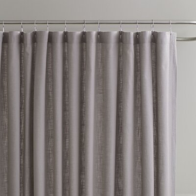 Amanda Shower Curtain Color: Pewter