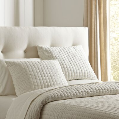 Julia Quilted Sham Size: King, Color: White