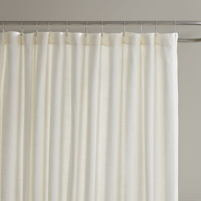 Amanda Shower Curtain Color: Parchment