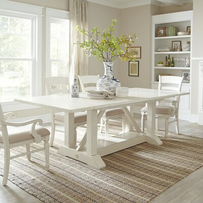 Lisbon Extending Dining Table Finish Cream White