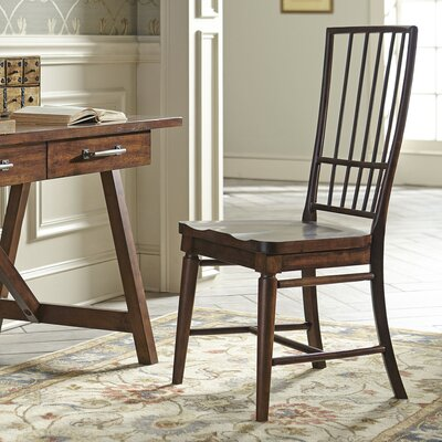 Lisbon Rake-Back Side Chairs (Set of 2) Finish: Cherry, Arms: Without Arms