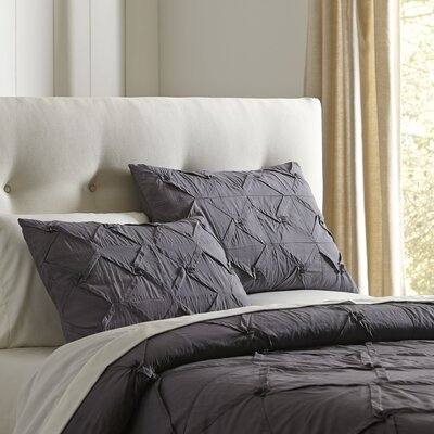 Genevieve Quilt Set Size: King, Color: Pewter