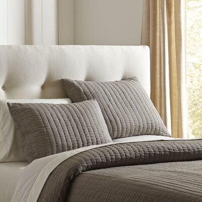 Julia Quilted Sham Size: King, Color: Pewter