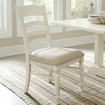 Lisbon Ladder-Back Side Chairs (Set of 2) Finish: White