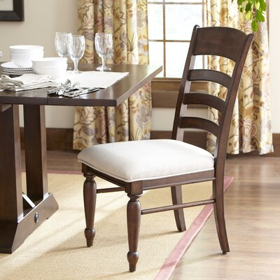 Lisbon Ladder-Back Side Chairs (Set of 2) Finish: Cherry
