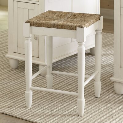 Muriel 24 Bar Stool (Set of 2) Finish: White