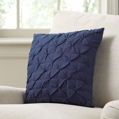 Alda Pintucked Pillow Cover Color: Navy