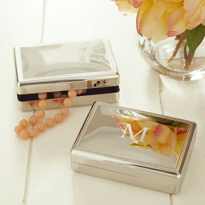 Gibbs Monogrammed Rectangular Jewellery Box