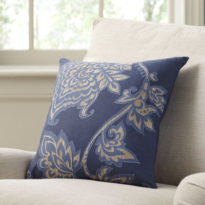 Penelope Pillow Cover Size: 18 x 18, Color: Navy