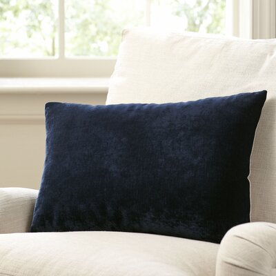Rochelle Pillow Cover Size: 16 x 24, Color: Navy
