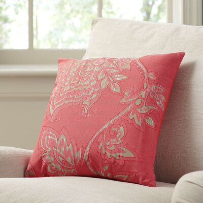 Penelope Pillow Cover Size: 11 x 21, Color: Coral