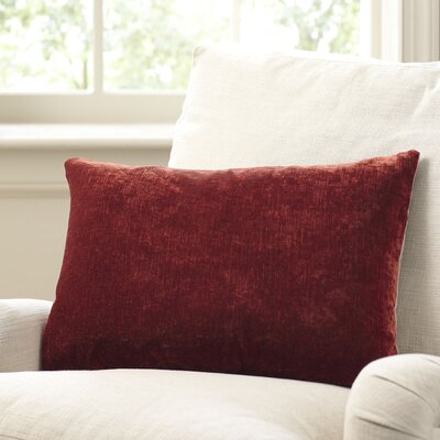 Rochelle Pillow Cover Size: 16 x 24, Color: Brick