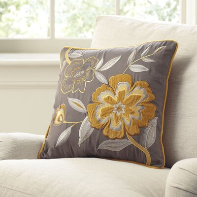 Marigold Embroidered Pillow Cover