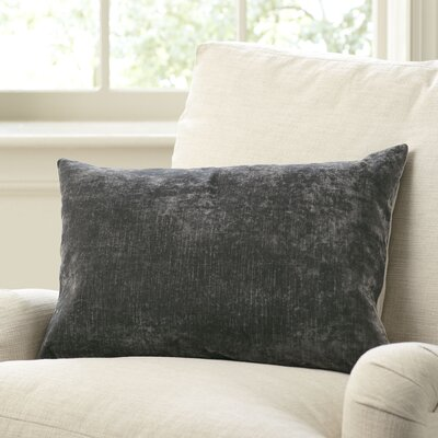 Rochelle Pillow Cover Size: 16 x 24, Color: Pewter
