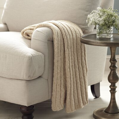 Samantha Throw Color: Taupe