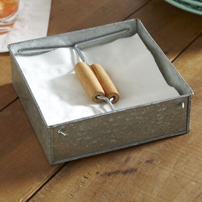 Cawley Napkin Caddy Finish: Galvanized Steel