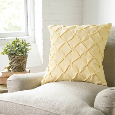Alda Pintucked Pillow Cover Color: Butter