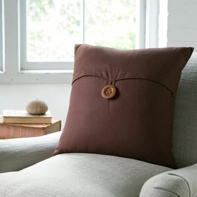 Lena Pillow Cover Color: Chocolate