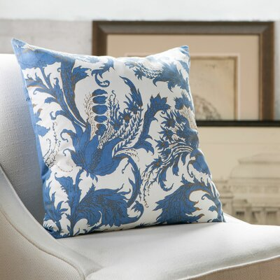 Vivi Pillow Cover Color: White & Blue