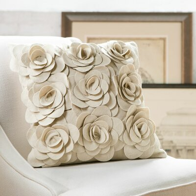 Ambrosia Wool Pillow Cover Color: Parchment, Size: 22 H x 22 W x 4 D